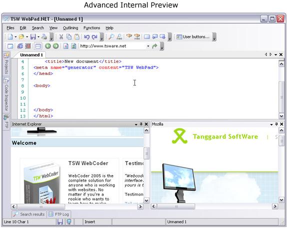 TSW WebPad.NET Screenshot