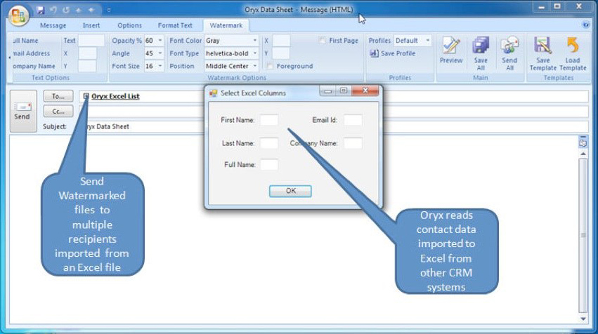 TunaWatermarking, Security Software Screenshot