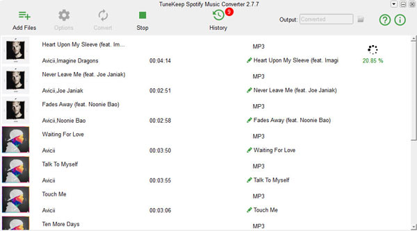 TuneKeep Spotify Music Converter Screenshot