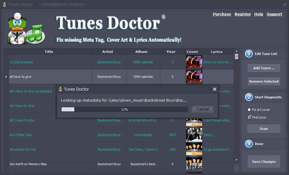 Tunes Doctor Screenshot
