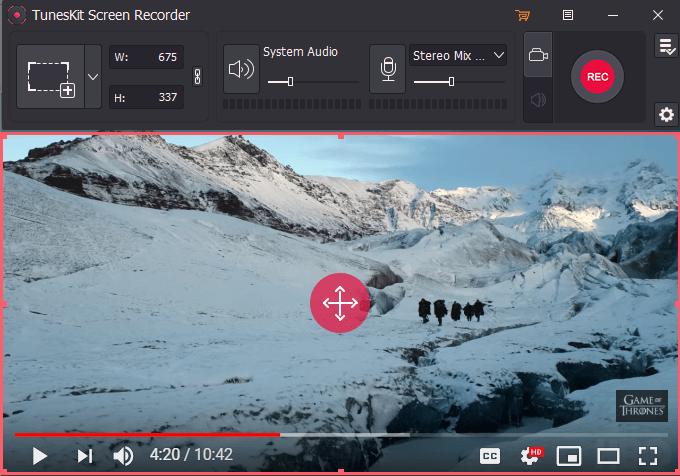 TunesKit Screen Recorder Screenshot
