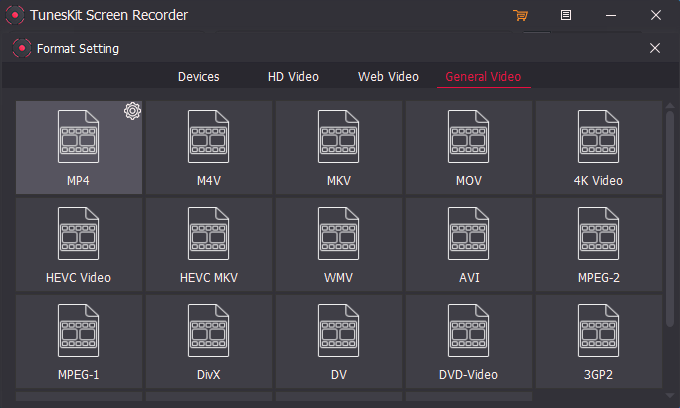 TunesKit Screen Recorder, Video Software Screenshot