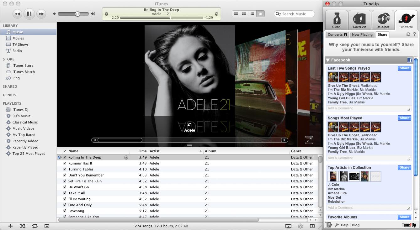 Audio Software, TuneUp Screenshot