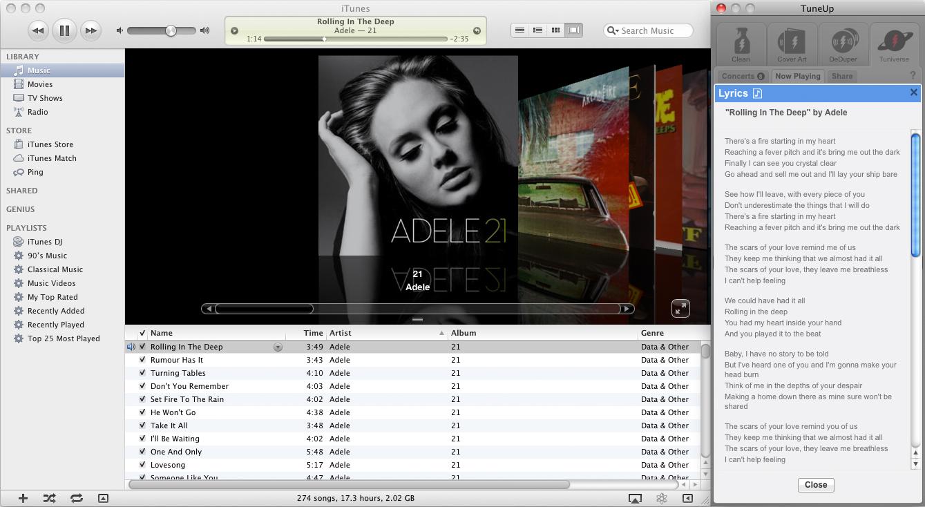 MP3 Tag Editing Software, TuneUp Screenshot
