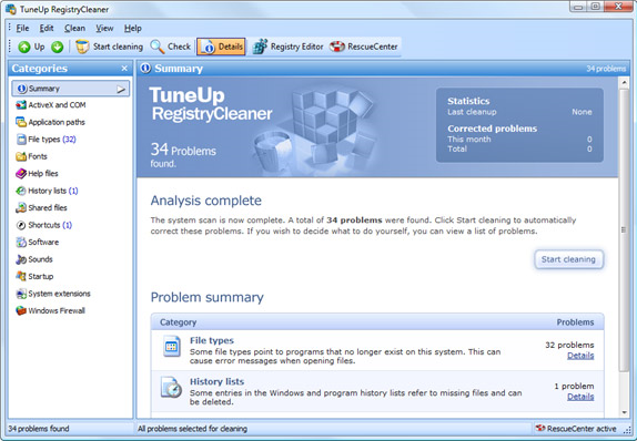 System Tweaker Software, TuneUp Utilities 2007 Screenshot