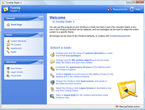 TuneUp Utilities 2007, System Tweaker Software Screenshot