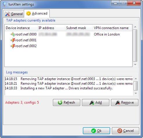Internet Software, tunXten Screenshot