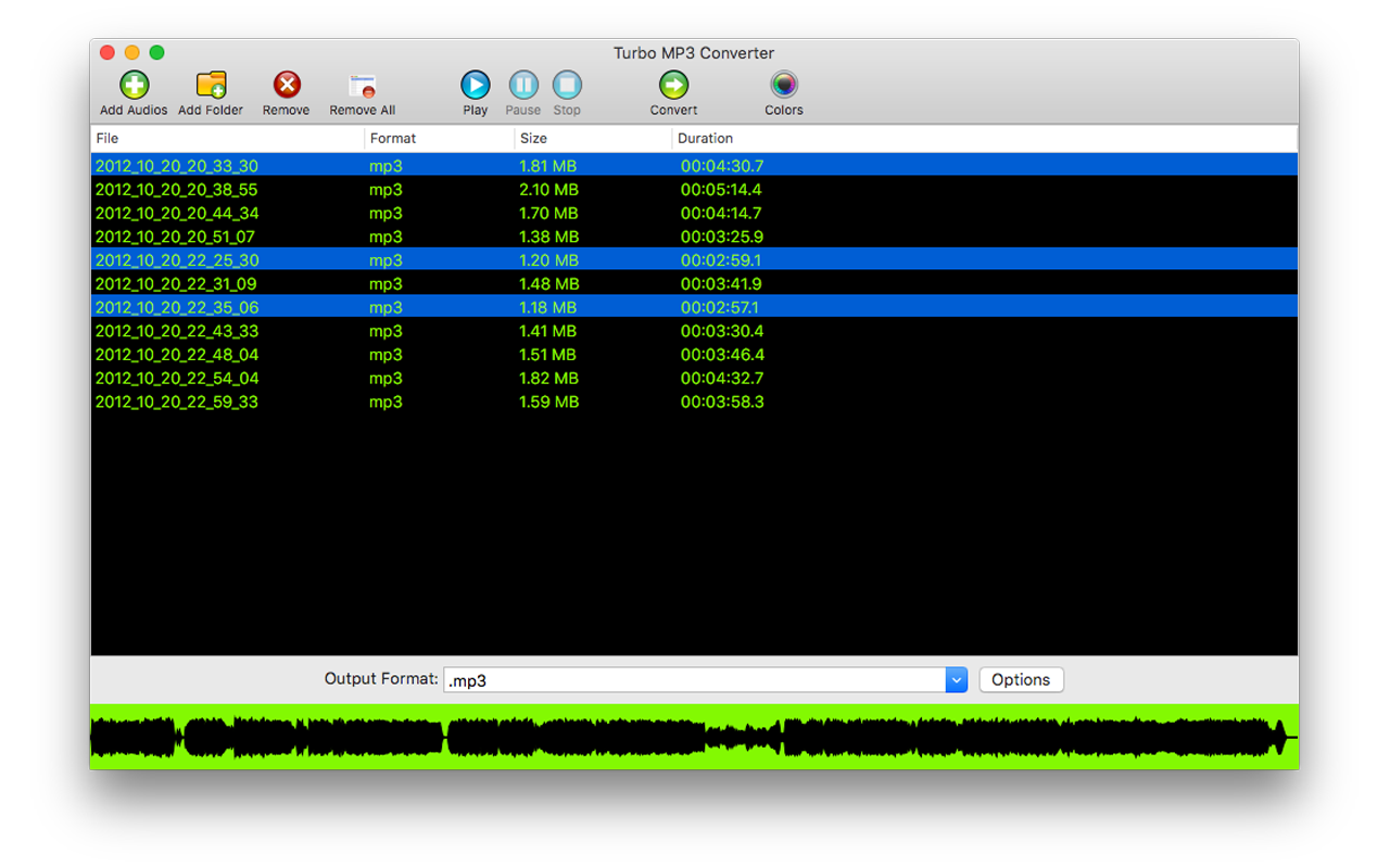 Turbo MP3 Converter Screenshot