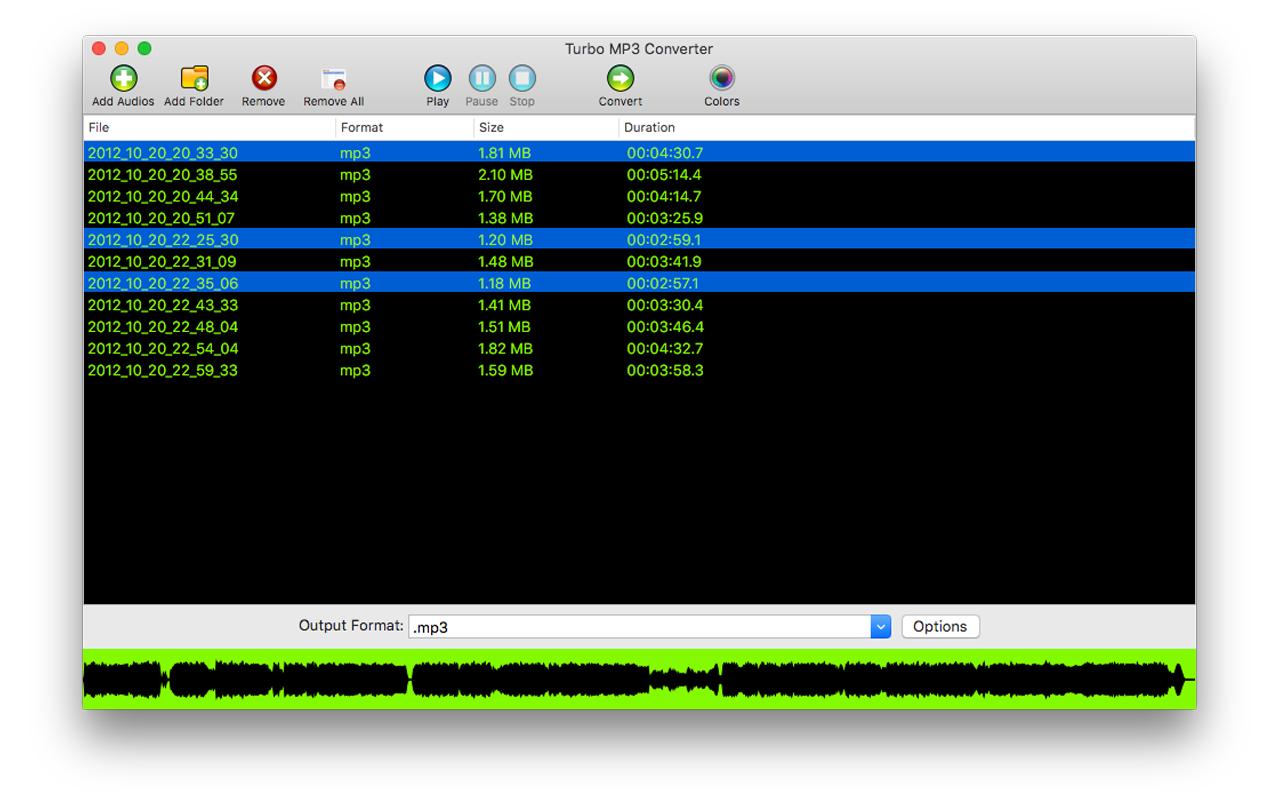Turbo MP3 Converter Screenshot