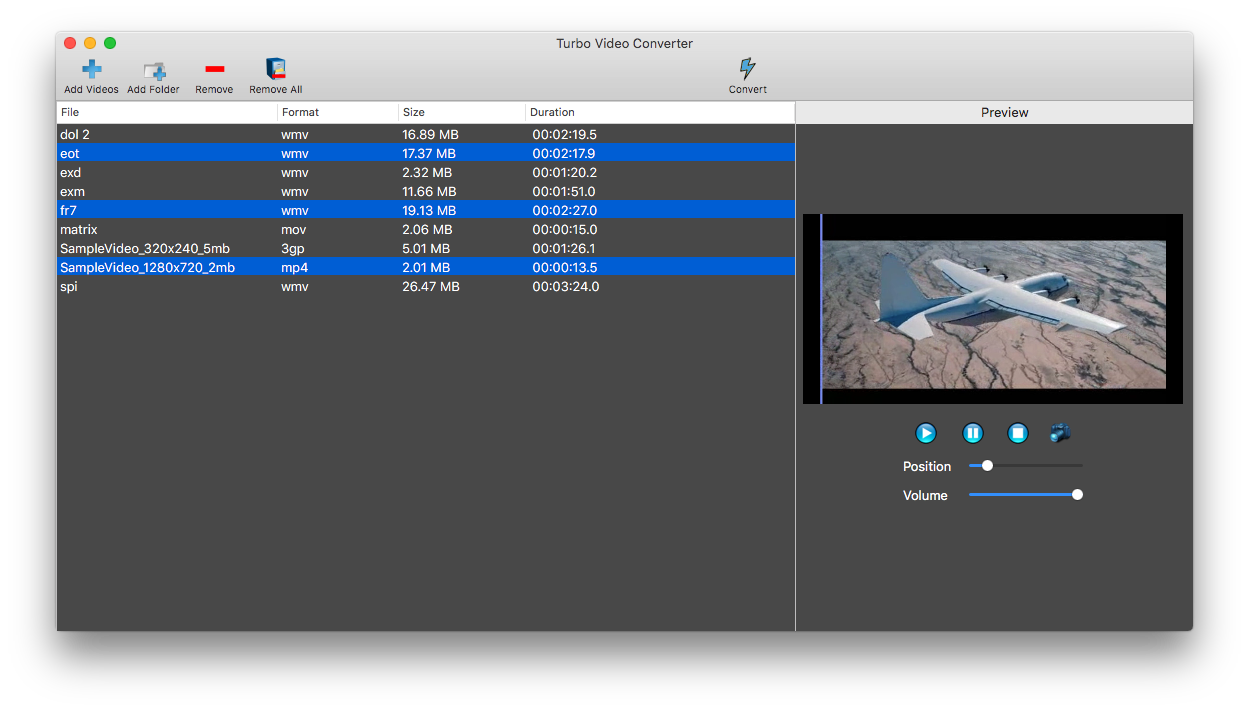 Turbo Video Converter Screenshot