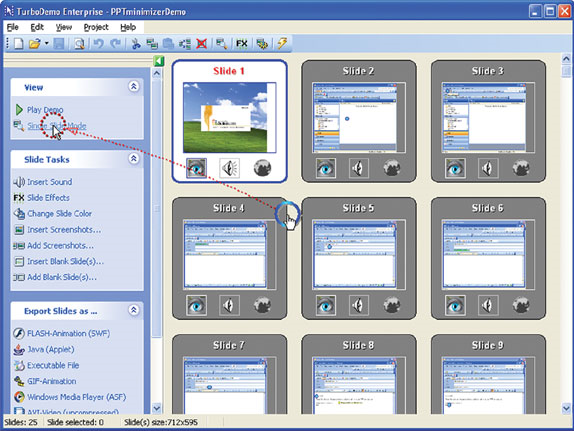 TurboDemo Professional Screenshot