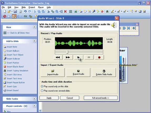 Presentation Software, TurboDemo Professional Screenshot