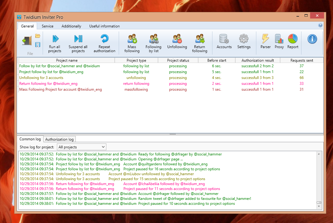 Twidium Inviter Screenshot