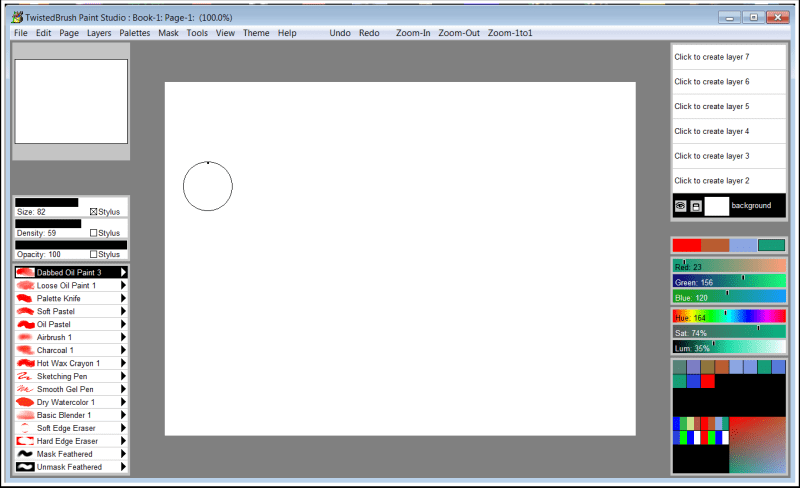 Graphic Design Software, Paint Studio Screenshot