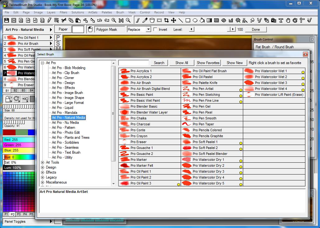 TwistedBrush Pro Studio, Photo Editing Software Screenshot
