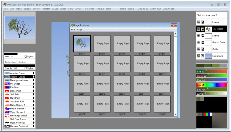 Tree Studio, Graphic Design Software Screenshot