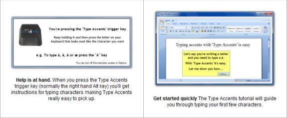 Type Accents, Keyboard Software Screenshot