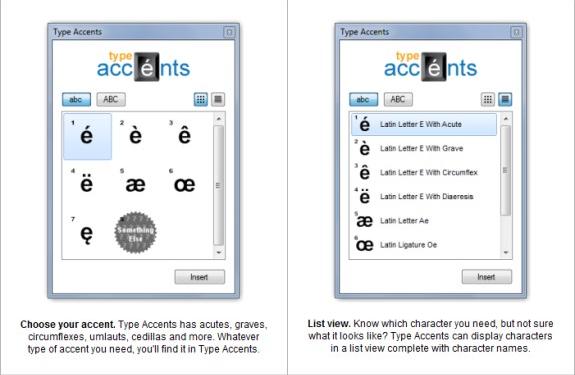 Type Accents Screenshot