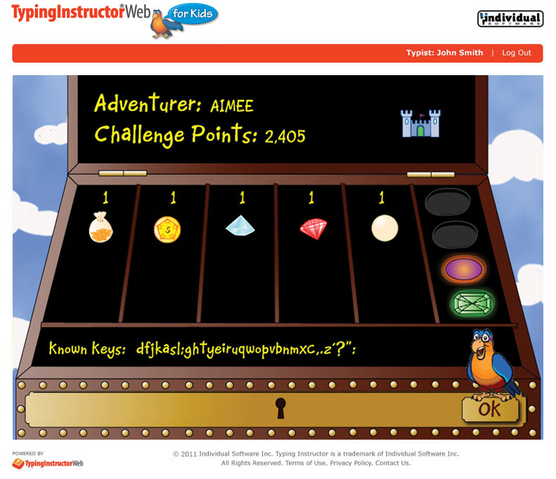 Typing Instructor Web for Kids Annual Subscription, Productivity Software Screenshot