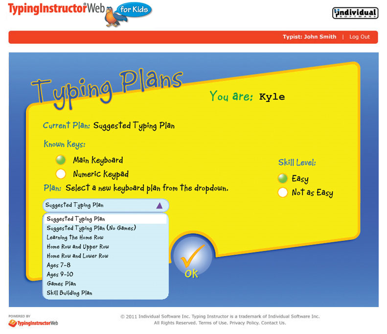 Typing Instructor Web for Kids Annual Subscription Screenshot
