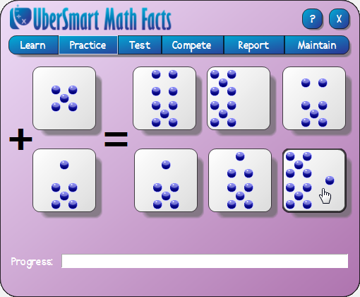UberSmart Math Facts, Hobby, Educational & Fun Software Screenshot