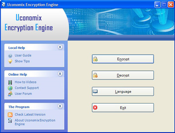 Uconomix Encryption Engine Screenshot