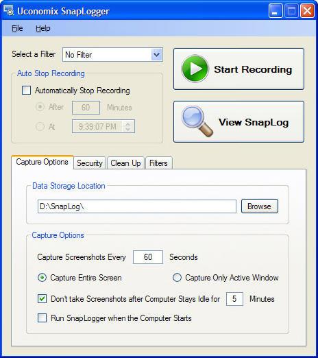 Uconomix SnapLogger Screenshot