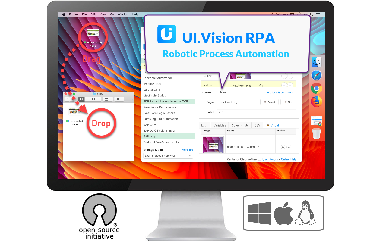 Ui.Vision RPA - AI powered Task and Test Automation Screenshot