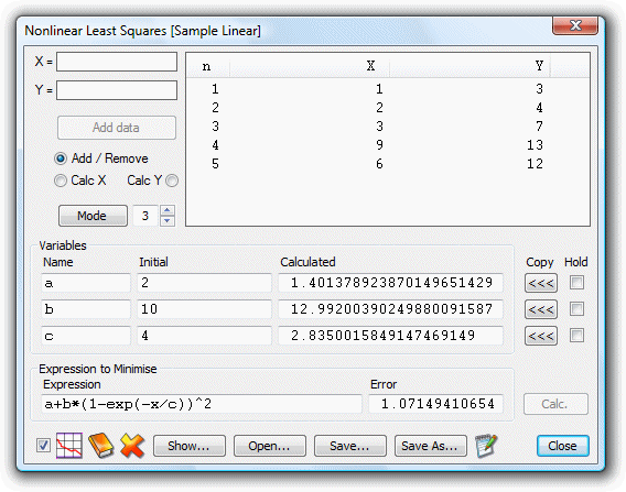 UltimaCalc, Calculator Software Screenshot