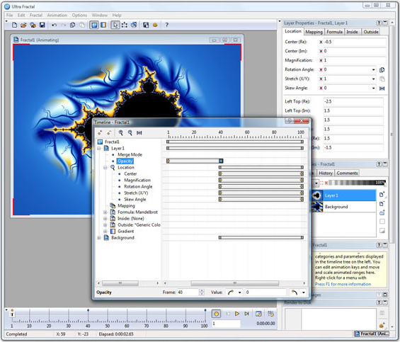 Ultra Fractal 5 Creative Edition, Graphic Design Software Screenshot