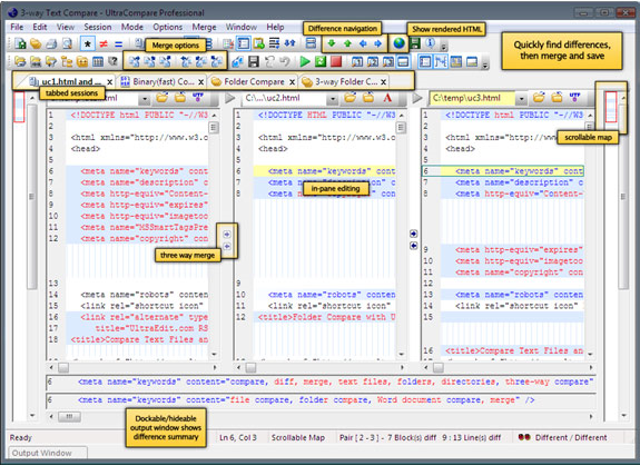 UltraEdit Bundle, Development Software, HTML Editor Software Screenshot
