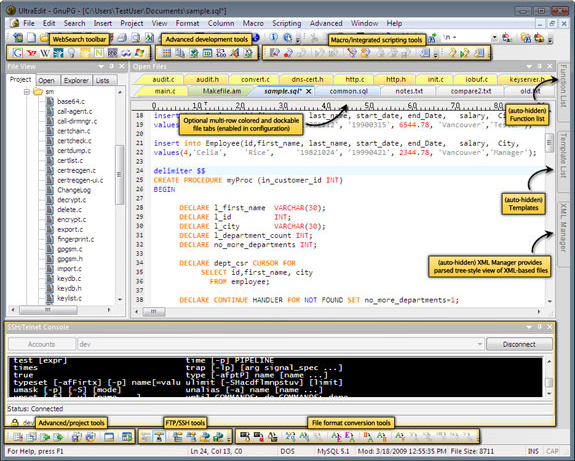 UltraEdit + UltraCompare + Mobility!, HTML Editor Software Screenshot