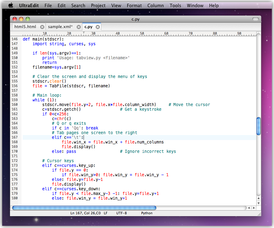 UltraEdit (Mac Version), HTML Editor Software Screenshot