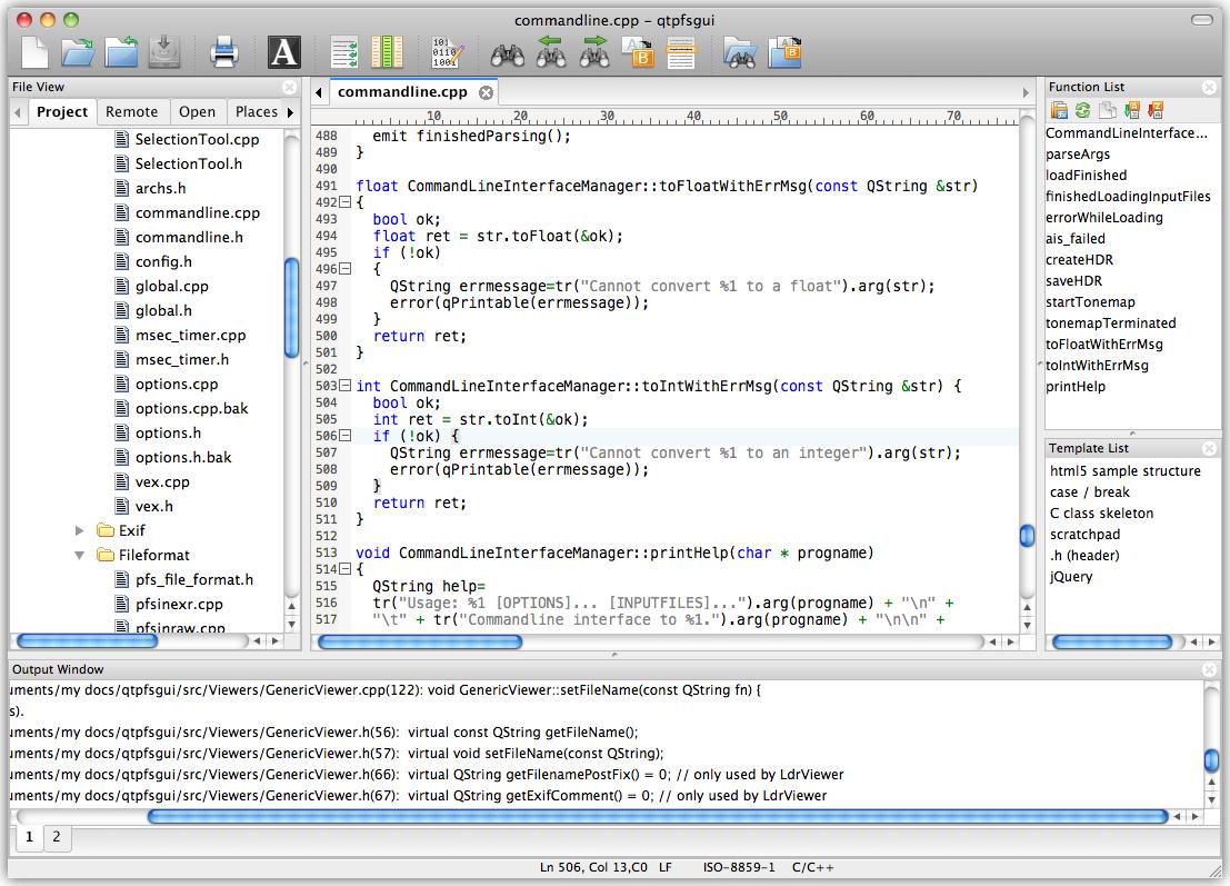 UltraEdit (Mac Version) Screenshot
