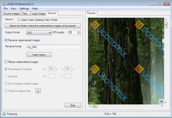 uMark Professional, Design, Photo & Graphics Software Screenshot