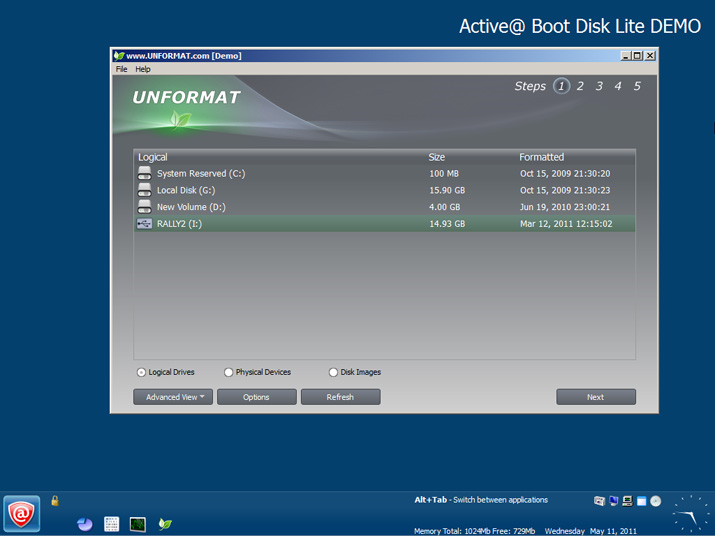Recovery Software, UNFORMAT Screenshot