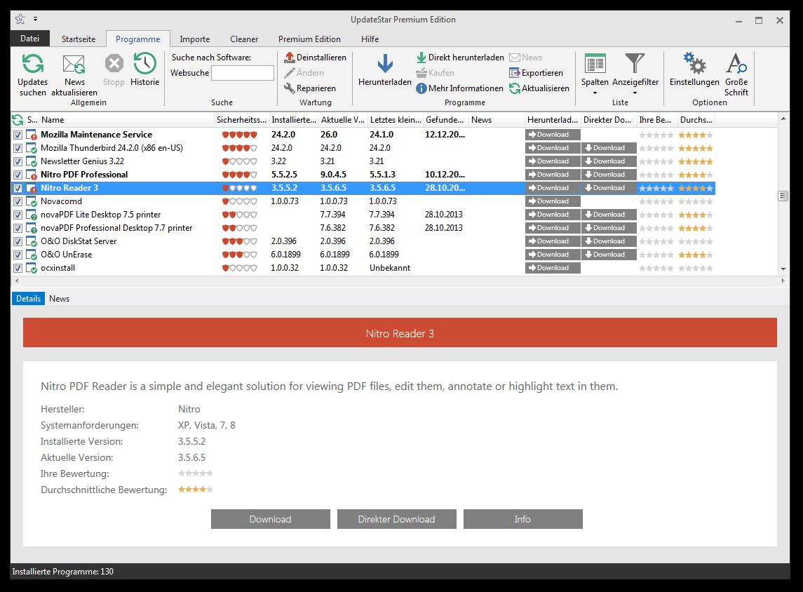 UpdateStar Premium Edition Screenshot