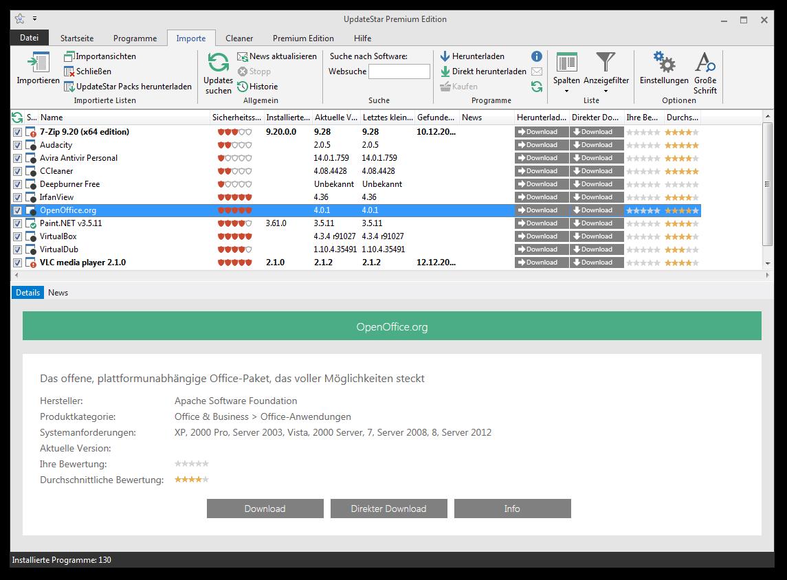 UpdateStar Premium Edition, Hard Drive / USB Security Software Screenshot