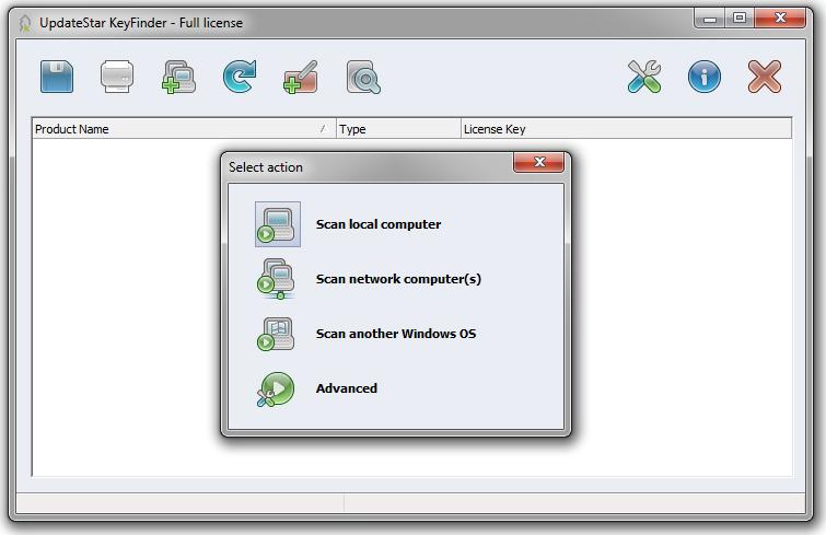 UpdateStar Product Key Finder 6 - 3 PCs license Screenshot