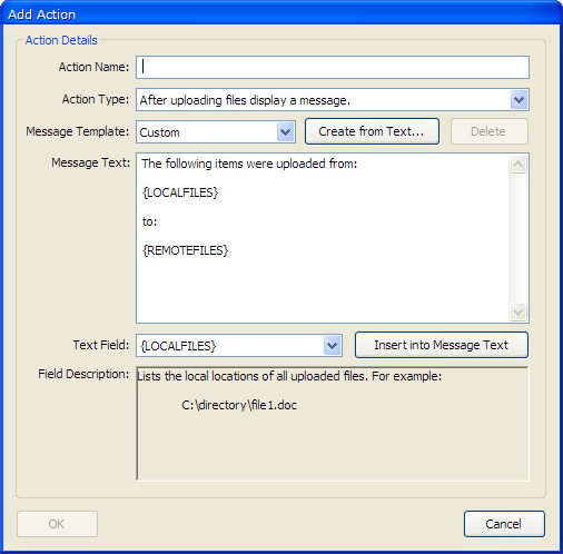 FTP Software, UpRight Screenshot