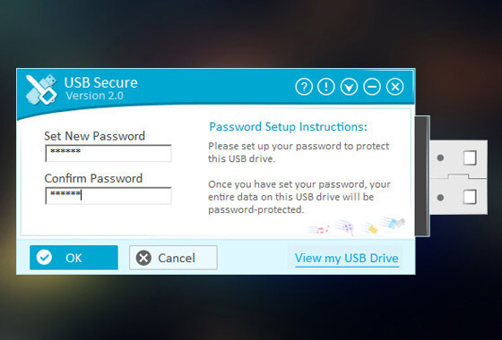 Hard Drive / USB Security Software Screenshot