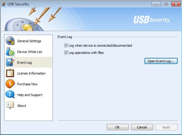 USB Security, General Security Software Screenshot