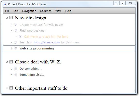 UV Outliner, PIM Software Screenshot