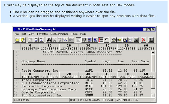 Software Utilities, V - The File Viewer Screenshot