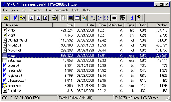 V - The File Viewer Screenshot 11