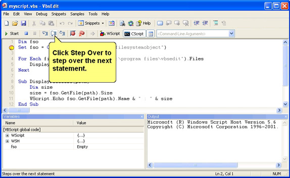 VbsEdit - Development Tools Software Download for PC
