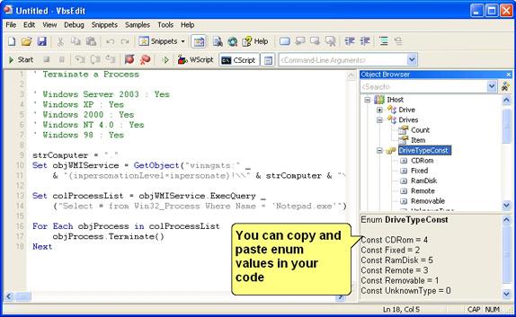 VbsEdit, Development Tools Software Screenshot