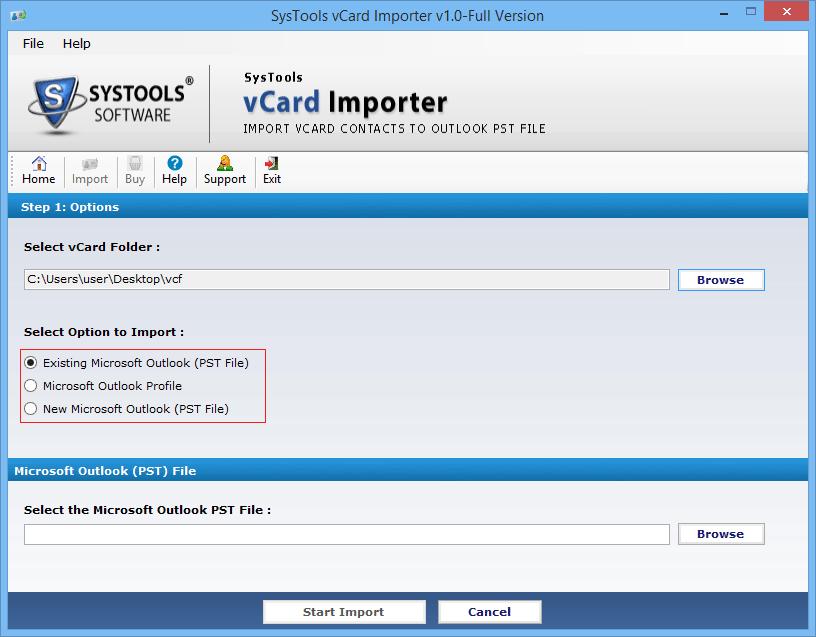 vCard Importer Screenshot