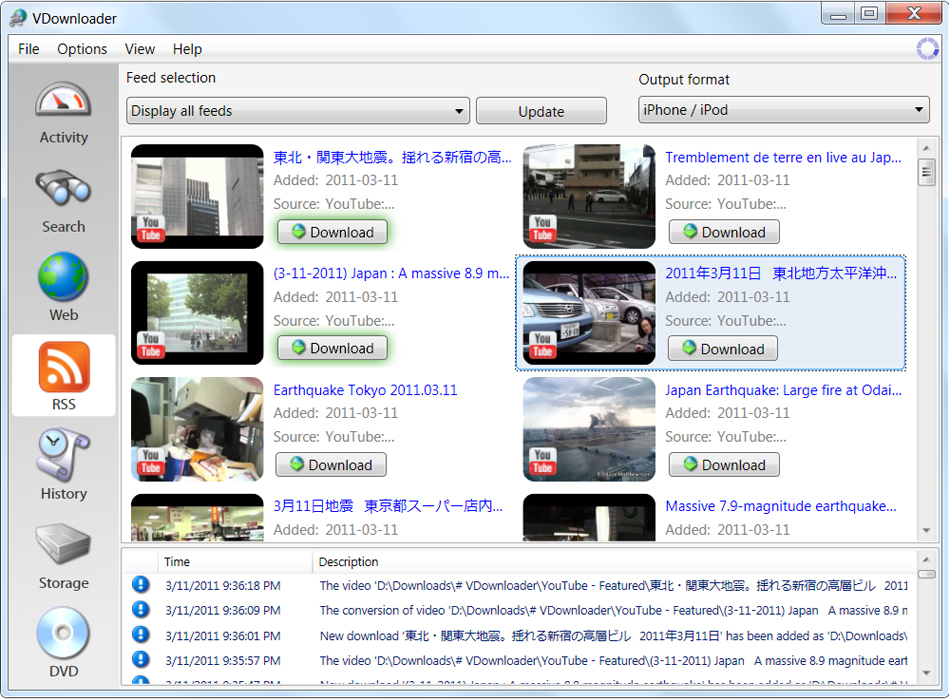 VDownloader Plus, Online Video Software Screenshot