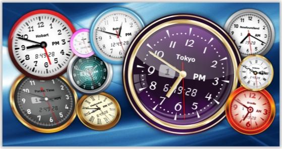 Vector Clock Pro, Desktop Customization Software, Clock Software Screenshot